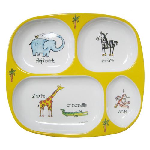 Baby Cie:  Jungle Animals TV Tray Plate