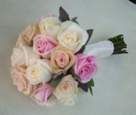 Pastel Mixed Rose Wedding Bouquet