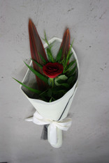 Our beautiful Single rose and foliage, wrapped in Vilene