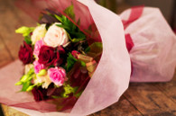 A delectable selection of soft pinks and ruby reds, sure to wow the recipient.