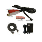CCTV Tiny Microphone Vioce Pick up Device with 65FT cable and power adapter