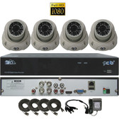 True High Definition Full HD 4CH 1080P DVR system with 4 2Megapixel Vandal Dome Camera Network Remote Viewing --- H80P04K1T03W-4