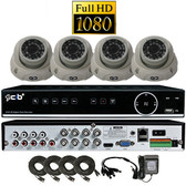 True High Definition Full HD 8CH 1080P DVR system with 4 2Megapixel Vandal Dome Camera Network Remote Viewing --- H80P08K1T03W-4