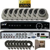True High Definition Full HD 8CH 1080P DVR system with 8 2Megapixel Vandal Dome Camera  --- H80P08K2T03W-8