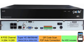 CIB 4CH NVR 8MP/5MP/4MP (3840x2160 to 2592x1520) Magepixel Super HD H.265 POE Network Video Recorder System