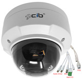 5 Megapixel  Lens 2.8-12mm 3X Motorized Focus PTZ IP Dome H264/H265 IP67 Network Camera, Audio In and Out