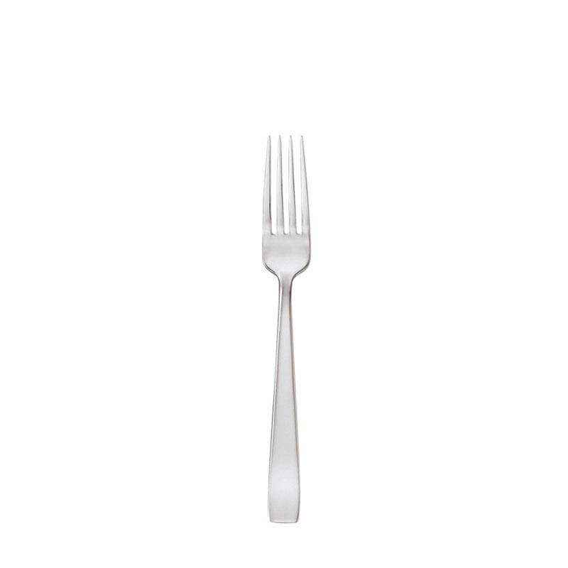 Sambonet Flat dinner fork on white background.