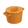thumbnail image of Sambonet Terra Cotto Cast Iron Saucepot With Lid, Vanilla, 6 1/4 inch