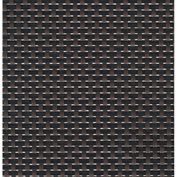 Sambonet Linea Q Table Mats Table mat, brown - black, 16 1/2 x 13 inch