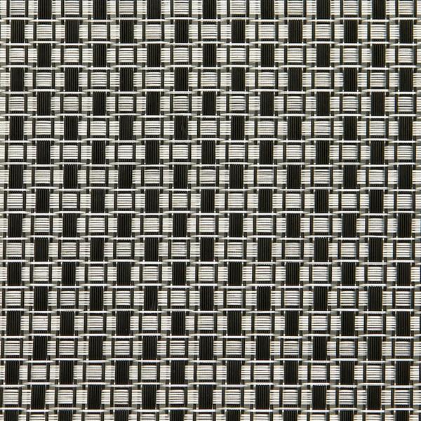 Linea Q Table Mats  Table mat, black / white rectangles, 16 1/2 x 13 inch