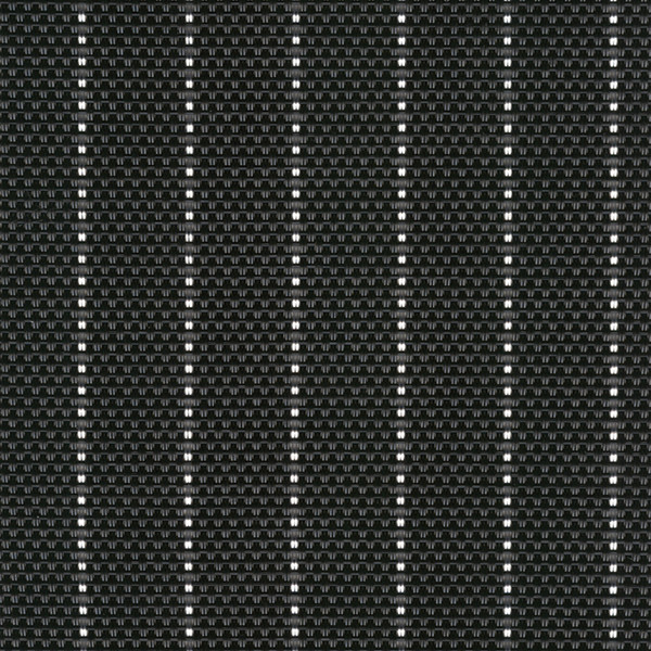 Sambonet Linea Q Table Mats Table mat, black pin-striped, 16 1/2 x 13 inch