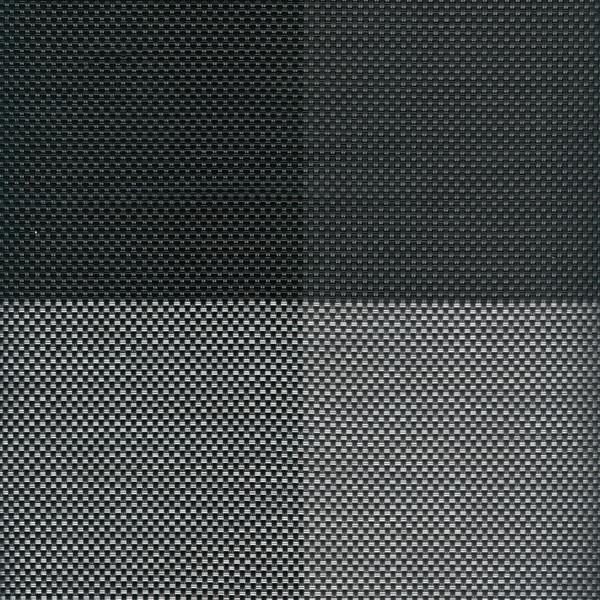 Sambonet Linea Q Table Mats Table mat, black four sectors, 16 1/2 x 13 inch