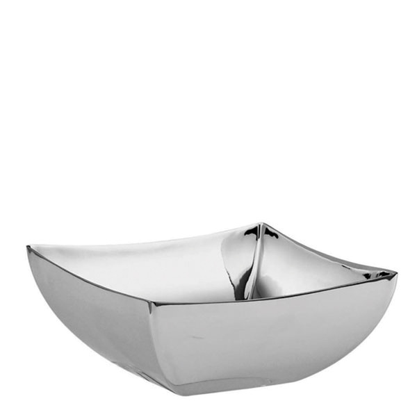 Linea Q Stainless Steel Square bowl, 4 3/4 x 4 3/4 inch