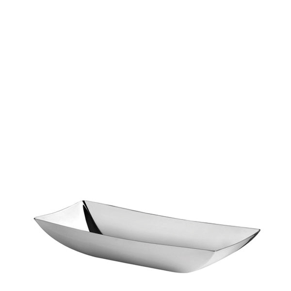 Linea Q Stainless Steel Bread basket, 9 1/2 x 4 3/4 inch