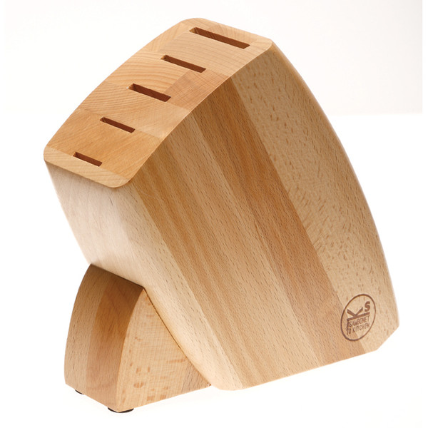 Knives  Knife Block only, wood (for 5 knives)