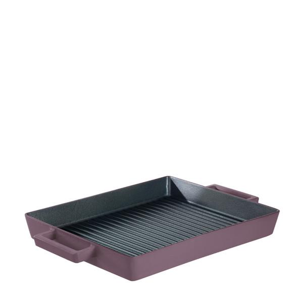 Sambonet Terra Cotto Cast Iron Rectangular Grill Pan, Juniper, 12 1/2 x 10 1/4 inch