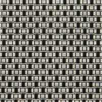Sambonet Linea Q Table Mats Table mat, black / white rectangles, 16 1/2 x 13 inch