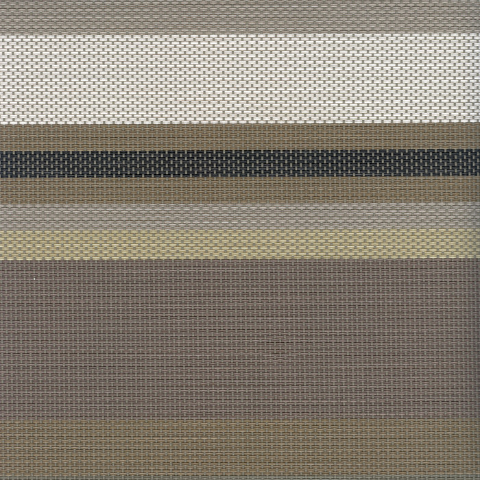 Sambonet Linea Q Table Mats Table mat, brown lines, 16 1/2 x 13 inch