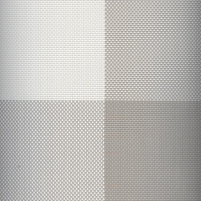 Sambonet Linea Q Table Mats Table mat, grey four sectors, 16 1/2 x 13 inch