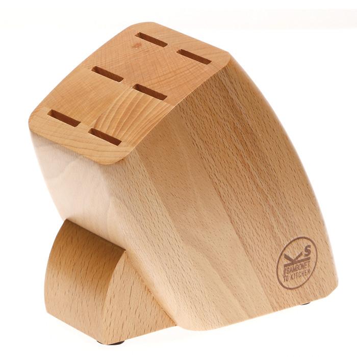 Sambonet Knives Knife Block only, wood (for 6 steak knives)