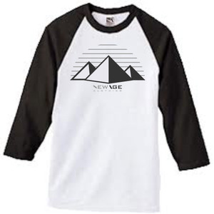 New Age Clothing TriPy  Wht-Blk Cool Greys Raglan