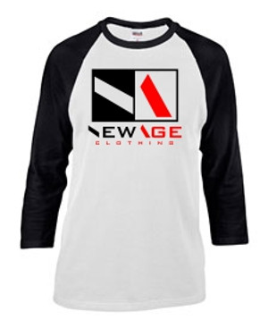 New Age Clothing | Premier WHT-BLK-RED-BLK Raglan
