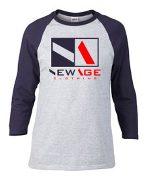 New Age Clothing | Premier HGY-NVY-RED-NVY Raglan