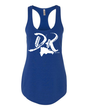 "Hispaniola Port & Trade Company | DR ""Since 1844"" Royal Ladies Premium Fitted French Terry Racerback Slub Tank"