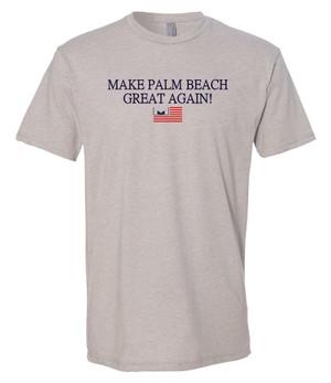 Marvelous Artz - Make Palm Beach Great Again Humble Grey T-shirt
