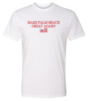 Marvelous Artz - Make Palm Beach Great Again Pride White T-shirt