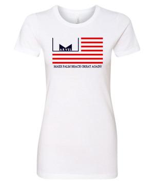 Marvelous Artz - Make Palm Beach Great Again Pride White Ladies Crew