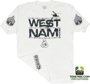 """Pipclothing - Rep Ur Hood """"West Nam"""" White Premium Crew"""