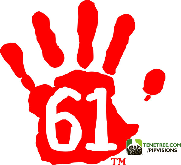 Pipvisions 561 Stickers Red