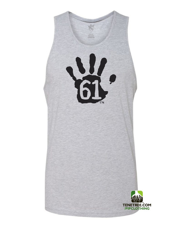 "Pipclothing - Rep Ur Hood ""Hand61"" Light Heather Grey-Black Tank"