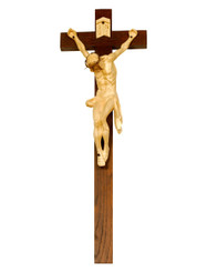 Christ in Agony Handcarved Crucifix 22""