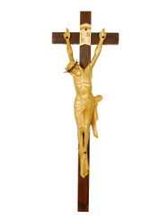 """Crown of Thorns Handcarved Crucifix 17.5"""""""