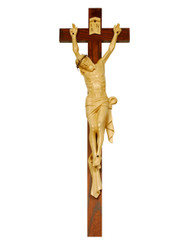Crown of Thorns Handcarved Crucifix 26""