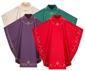 Gothic Chasuble in Sarder fabric with Machine Embroidered Design