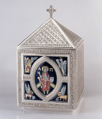 Tabernacle with Celtic Ornamentation (Enameled)