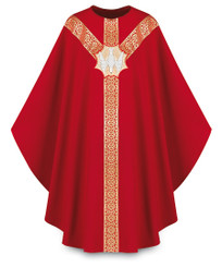 Gothic Chasuble with Handembroidered Dove Emblem