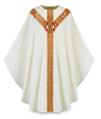 Gothic Chasuble with Handembroidered Cross Emblem