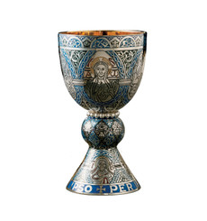 """Fire Enamel Tassilo"" Chalice and Paten"