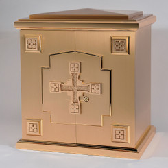 Bronze Tabernacle with Cross Relief