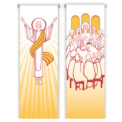 Inside Banner with Risen Christ or Last Supper Design