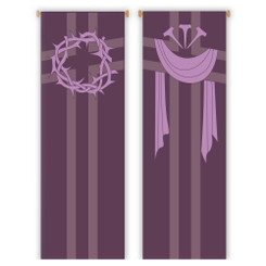 Inside Banner with Crown of Thorns or Nails and Shroud Design