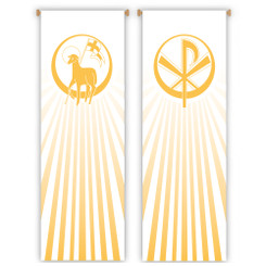 Inside Banner with Lamb of God or Chi-Rho Design