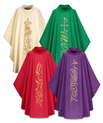 Gothic Chasuble with exquisite Handembroidery