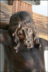 Cast Bronze Crucifix on Wood Cross