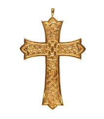 """Pectoral Cross with Engraved Design 4.5"""""""
