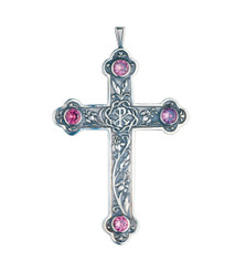 Pectoral Cross with Amethysts 3.75""